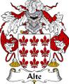 Alte Spanish Coat of Arms Print Alte Spanish Family Crest Print