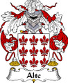 Alte Spanish Coat of Arms Large Print Alte Spanish Family Crest
