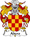 Altero Spanish Coat of Arms Print Altero Spanish Family Crest Print