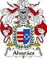 Alvaraes Spanish Coat of Arms Large Print Alvaraes Spanish Family Crest