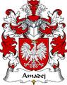 Amadej Polish Coat of Arms Print Amadej Polish Family Crest Print