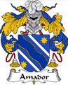 Amador Spanish Coat of Arms Large Print Amador Spanish Family Crest