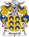 Amaral Spanish Coat of Arms Large Print Amaral Spanish Family Crest