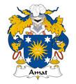 Amat Spanish Coat of Arms Print Amat Spanish Family Crest Print