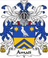 Amati Italian Coat of Arms Large Print Amati Italian Family Crest