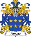 Amato Italian Coat of Arms Print Amato Italian Family Crest Print