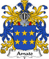 Amato Italian Coat of Arms Large Print Amato Italian Family Crest