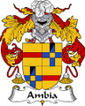 Ambia Spanish Coat of Arms Large Print Ambia Spanish Family Crest