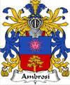 Ambrosi Italian Coat of Arms Print Ambrosi Italian Family Crest Print