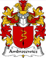Ambrozewicz Polish Coat of Arms Print Ambrozewicz Polish Family Crest Print