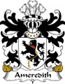 Ameredith Welsh Coat of Arms Large Print Ameredith Welsh Family Crest