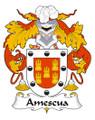 Amescua Spanish Coat of Arms Print Amescua Spanish Family Crest Print