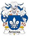 Amezua Spanish Coat of Arms Print Amezua Spanish Family Crest Print