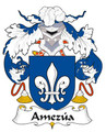 Amezua Spanish Coat of Arms Large Print Amezua Spanish Family Crest