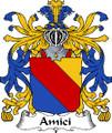 Amici Italian Coat of Arms Print Amici Italian Family Crest Print