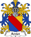 Amici Italian Coat of Arms Large Print Amici Italian Family Crest