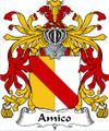 Amico Italian Coat of Arms Print Amico Italian Family Crest Print