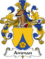 Amman German Coat of Arms Large Print Amman German Family Crest