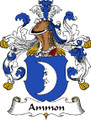 Ammon German Coat of Arms Large Print Ammon German Family Crest
