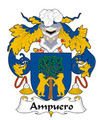 Ampuero Spanish Coat of Arms Large Print Ampuero Spanish Family Crest