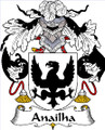 Anailha Spanish Coat of Arms Large Print Anailha Spanish Family Crest