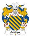 Anaya Spanish Coat of Arms Print Anaya Spanish Family Crest Print