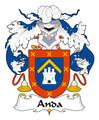 Anda Spanish Coat of Arms Large Print Anda Spanish Family Crest