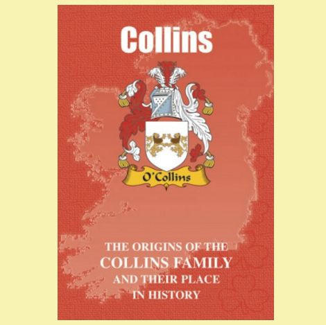 Collins Coat Of Arms History Irish Family Name Origins Mini Book - For  Everything Genealogy