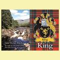 King Coat of Arms Scottish Family Name Fridge Magnets Set of 4