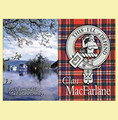 MacFarlane Clan Badge Scottish Family Name Fridge Magnets Set of 4