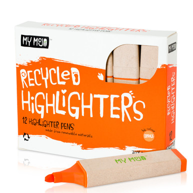 Box of 12 Orange Recycled Highlighters