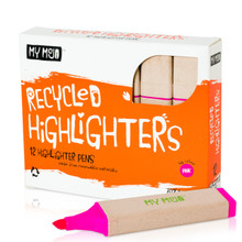 Box of 12 Pink Recycled Highlighters