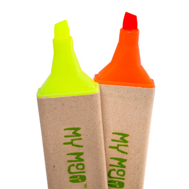 Recycled Yellow and Orange Highlighters