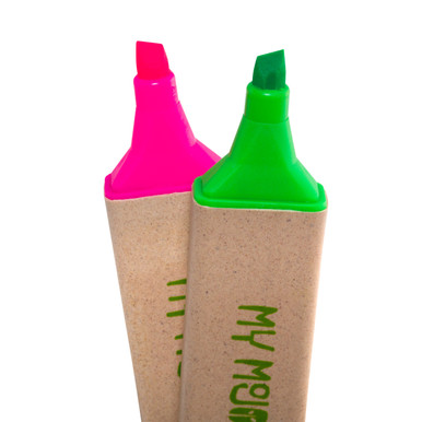 Recycled Pink and Green Highlighters