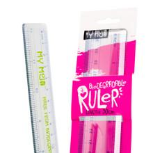 Biodegradable Ruler Close up