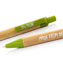 Green Biodegradable Pen Close Up