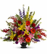 Walk Among the Rainbows Funeral Bouquet