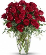 Beloved Heart Sympathy Arrangement by Sympathy Flower Shop. Roses, roses and more roses are arranged with beautiful eucalyptus and a lovely ming vase. Say it with flowers, when no words will speak the feelings in your heart. SKU SYM429