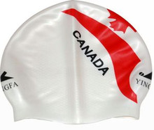 a4d159a990b New Silicone Non Slippery Interior Racing Competition Swim Cap CANADA Flag