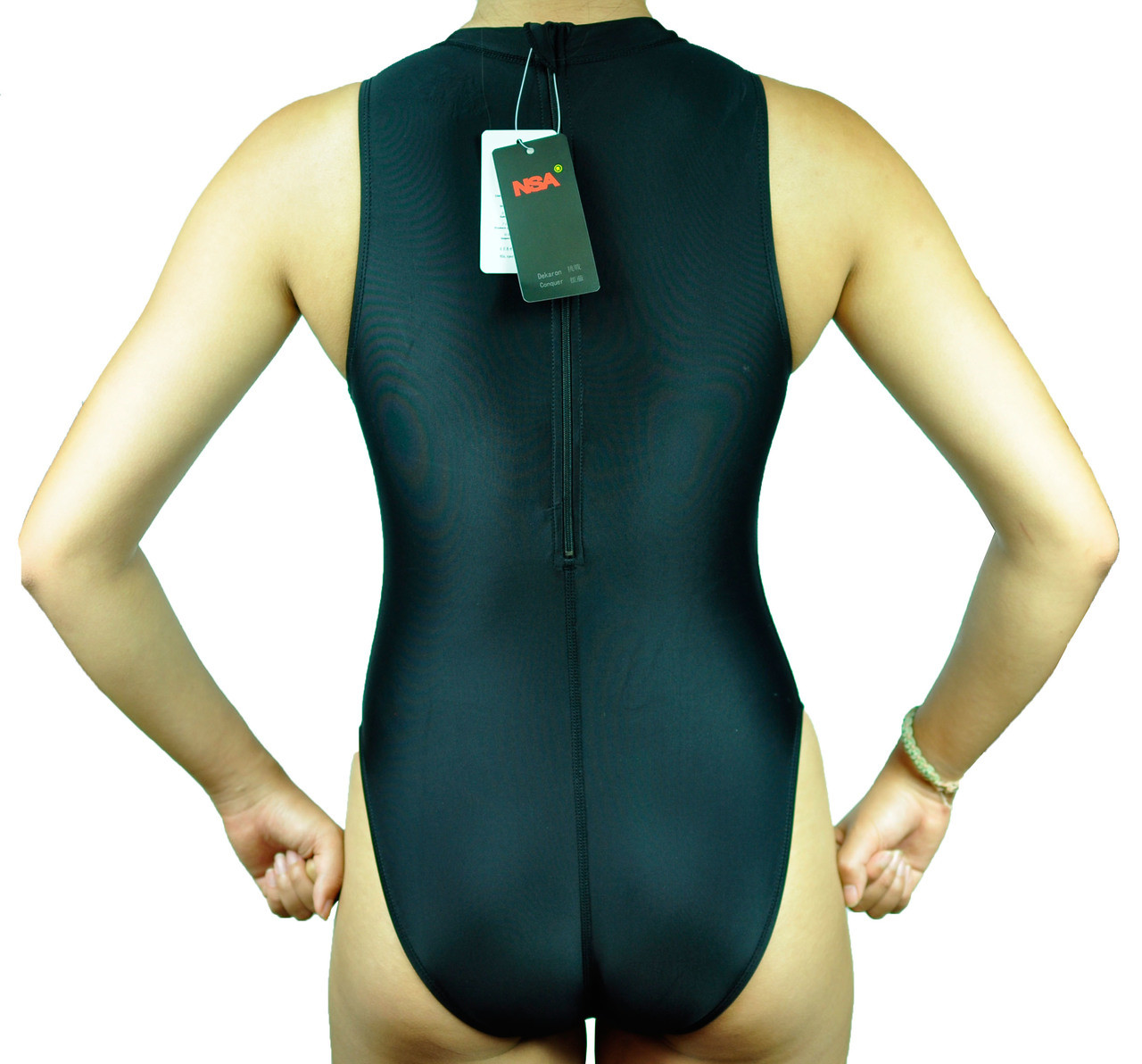 a797097fff855 Woman Lady Endurance Hi-Neck Zip-Up Hydrasuit Water Polo Swimwear Size 40  4XL. Price   40.79. Image 1