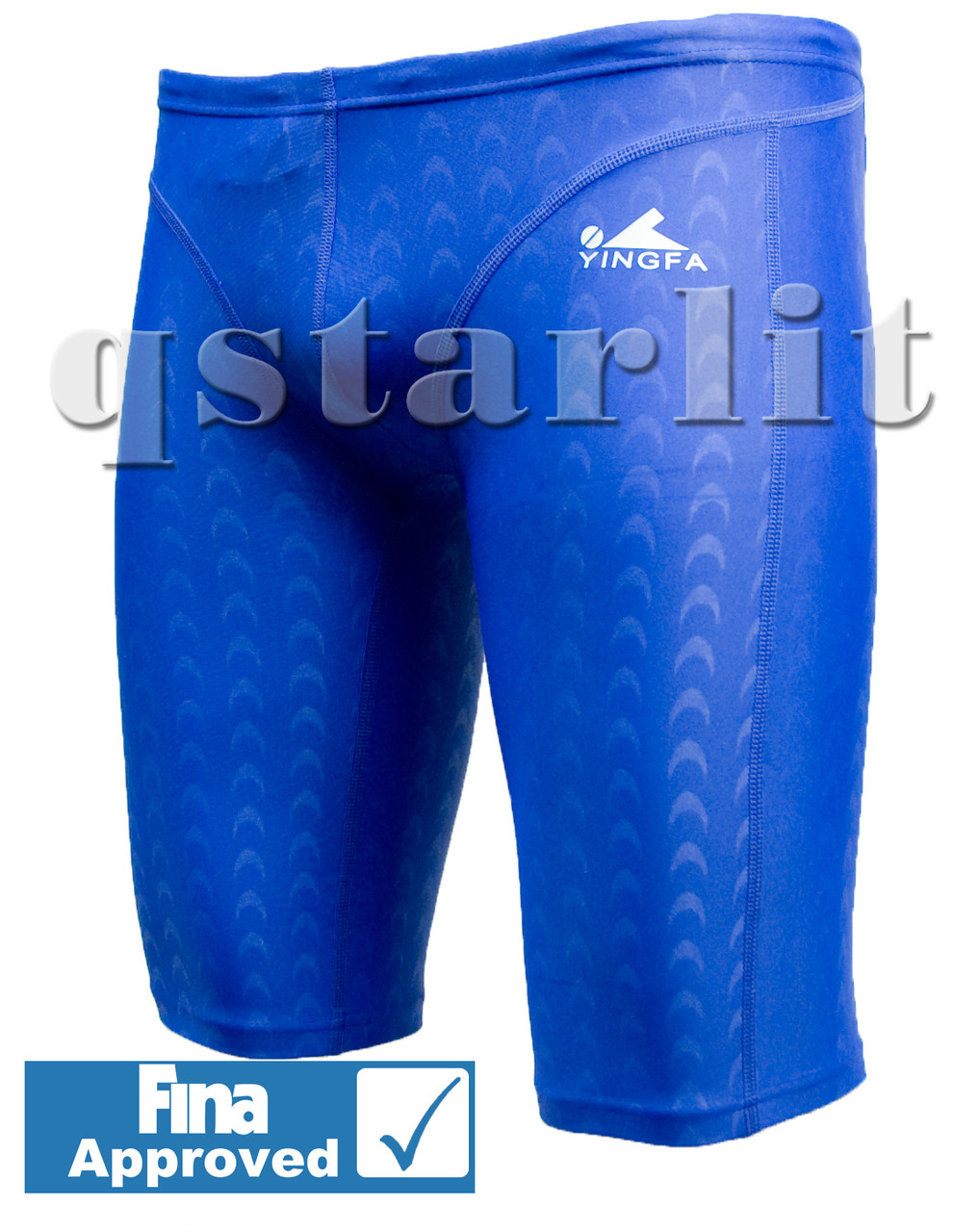 Boys Male Competition Racing Fast Skin Swimwear Jammer Trunk Size 26 S Blue