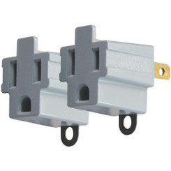 AXIS YLCT-6B 3-Prong to 2-Prong Electrical Adapters, 2 pk