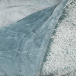 Adorn & Décor Crushed Velvet Reversible to Shiny Flannel Throw - Aqua AD-CRUVEL-AQ