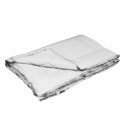 Dreamothis Down Alternative Brushed Crepe Trim Throw - Silver Gray DR-TH-TRM-GRY