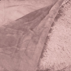 Adorn & Décor Crushed Velvet Reversible to Shiny Flannel Throw - Blush AD-CRUVEL-BL