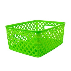 ROMANOFF PRODUCTS (3 EA) SMALL LIME WOVEN BASKET 74015BN