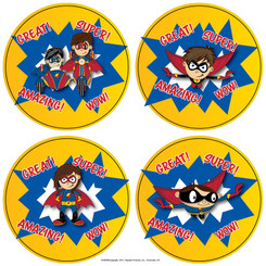 HAYES SUPERHERO STICKERS SH005