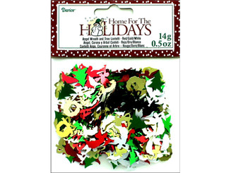 1630-103 DARICE HOLIDAY CONFETTI PACK ANGEL WREATH TREE 5OZ
