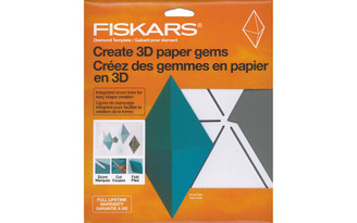 177120-1001 FISKARS 3D PAPER GEM TEMPLATE DIAMOND