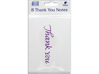 23001 GALLANT GREETINGS THANK YOU CARD 8CT MGNTA FOIL 2